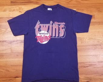 Vintage 80s Minnesota Twins Baseball T Shirt Size Large L 90s