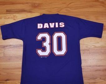 Vintage 90s 1998 Denver Broncos 30 Terrell Davis Jersey shirt Size Large