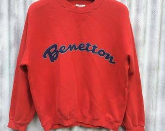 Benetton sweatshirt pullover size 46 (s)