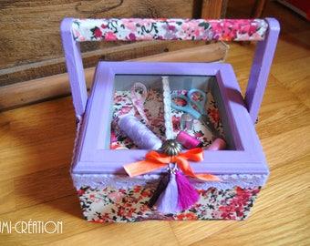 Purple sewing box