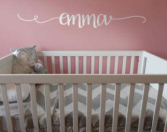 Your baby / child's name - Wall decal nursery decor