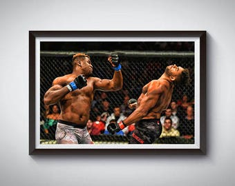 MMA Mixed Martial Arts Inspired Art Poster Painting Print 2