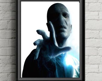 Harry Potter Lord Voldemort  Vintage Book Page Art Print Picture Poster Girl Nursery  Kids Decor, Wall Art