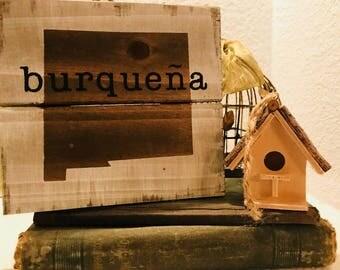 Burquena Sign