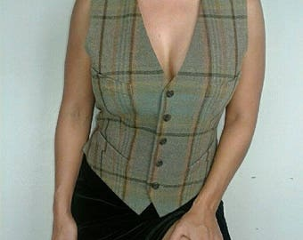 TAYLOR | 90's Ralph Lauren Plaid Wool Vest/jacket/top