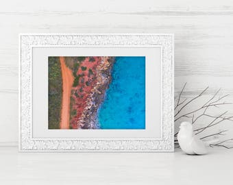 Gantheaume - Photo Print, Drone, Coastal Wall Art, Aerial Photography, Home Decor, Beach Photo, Coastal Print, Printable