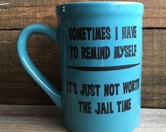 16 oz. Ceramic Jail Time Mug
