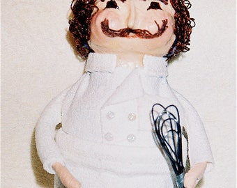 Upcycled Chef art doll