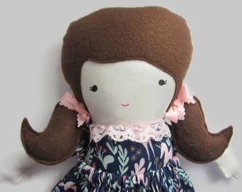 Fabric doll, Rag doll, handmade- Willa
