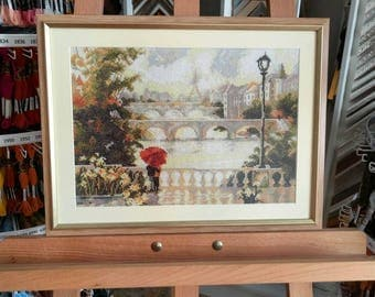 "Embroidered picture ""Dawn over Paris"""