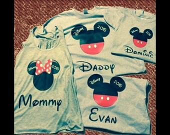 3 Disney Family Vacation T Shirts