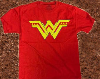 Wonder Woman T Shirt, Superhero Inspired T Shirt