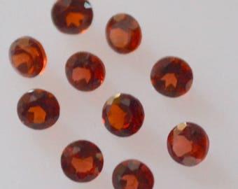 1.5 mm Natural garnet round cut loose gemstone  garnet round AAA Quality