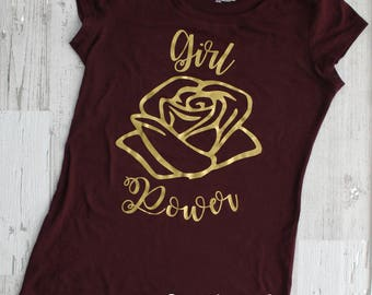 """Womens """"Girl Power"""" Shirt by LoveJo&Co size Small - XLarge ~ Free Shipping"""