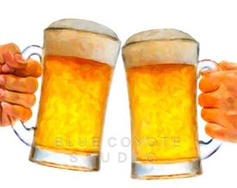 Beer Art, Beer Print, Bar Decor, Beer Poster, Microbrew Art, Bar Art Digital Download Printable File #bc45