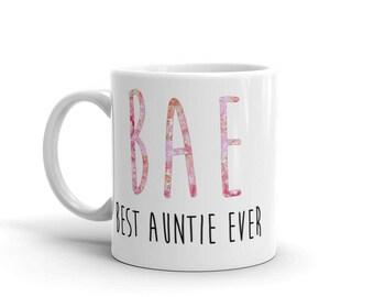 BAE Best Auntie Ever Floral Mug