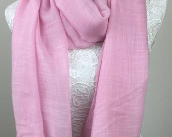 Tassel Scarf - Pink