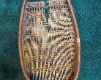 Antique California Native American Indian Woven Basket Baby Carrier Cradle Board