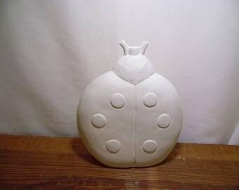 Ceramic Bisque Ready to Paint Ladybug Garden Buddy