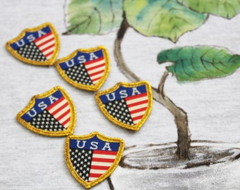 The old glory-the stars and stripes-USA peltate badge sew on patch, sewed on hats/shoes/bags/jackets/jeans, DIY