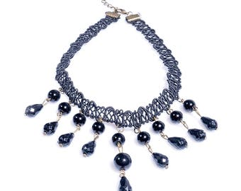 Big Dotted Chocker Necklace