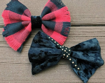 Holiday Bow Pack- bows, plaid, velvet, hair accessories
