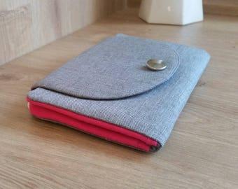 Grey/pink purse