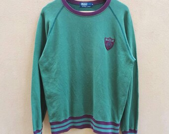 Vintage Embroidered Sweatshirt Polo By Ralph Lauren small logo polo
