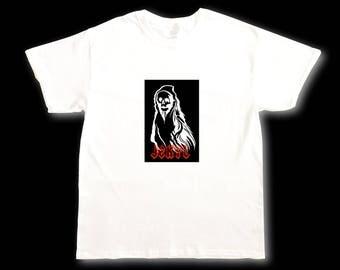 The Grim Reaper Box Tee - JEKYL - Mens T-Shirt - Goth/Gothic/Art/Skate/Streetwear/Skull