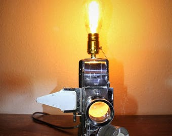 One-of-a-Kind Upcycled Film Projector Lamp