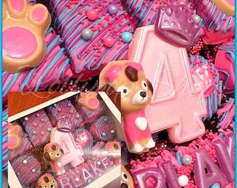 Paw Patrol Skye Personalized Chocolate Gift Box, Paw Patrol chocolate, gift box, paw patrol gift