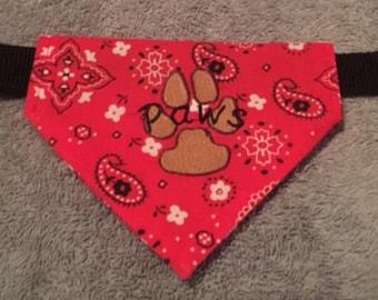 Custom made dog bandanas
