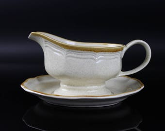 Mikasa Gravy Boat and Under Plate style #EC400 - Made in Japan vintage
