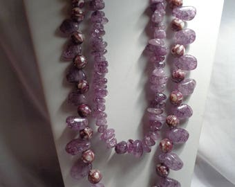 Purple Lamp Work Beads