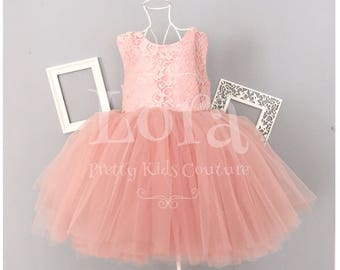 Sequined Bow Detailed Lace&Tulle Dress