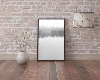 Digital image - Reflection on a lake