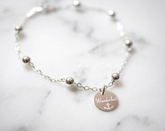 Bracelet ~ satellite ~ engraving ~ 925 Silver