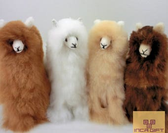 Handmade Alpaca Stuffed Animal Plush Alpaca 12.5 IN/ Llama  fur teddy alpaca handmade Peruvian alpaca fur stuffed animal toy