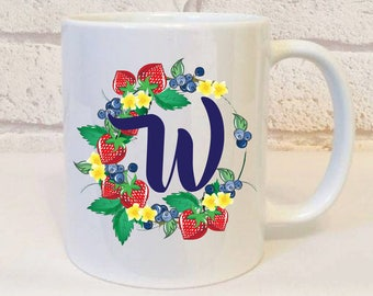 Initial W Gift, Letter W Gift, Initial Name Gift, Personalised Initial Mug, Letter Gift, Initial Gift, Letter W Mug, Initial Birthday Gift.