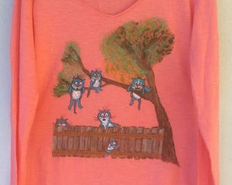"""""""Cats band"""" t-shirt, size S"""