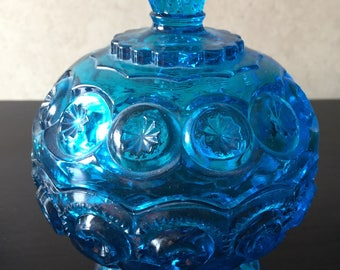 LE Smith Moon and Stars colonial blue compote