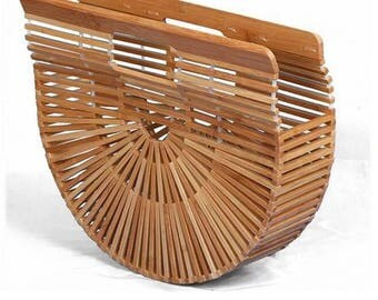 PRE ORDER The Cult bag of the season - Natural bamboo handbag - Bloggers favourite !