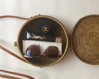 Pre-Order - Round straw ata basket bag - bloggers favourite bag of the season trending now