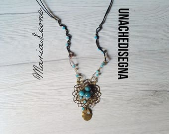 Mandala pendant Blue small