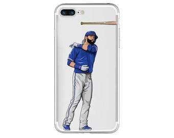 "The ""Bat Flip"" Baseball Phone Case, Hand-Drawn Baseball iPhone Case / Fits iPhone 5, iPhone 6, iPhone 7"