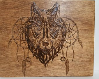 Wolf and Dream Catcher