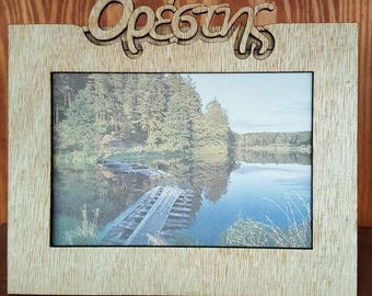 Wooden Picture frame with any name on it