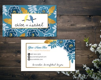PERSONALIZED Chloe and Isabel Business Card, Custom Chloe and Isabel Card, Fast Free Personalization, Printable Business Card CL02