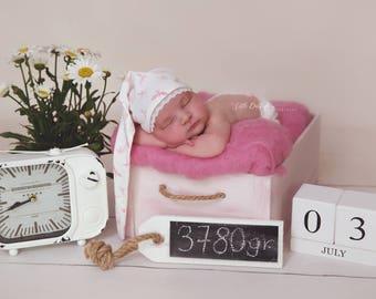 Newborn, baby Photoprops, Sleepyhead, stocking CAP, photo shoot, newborn clothing, body, panties, set, baby photography, top, Cap,