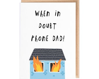 When In Doubt Phone Dad - Greeting Card - Fathers Day Card - Folio - thisisfolio - Stationery